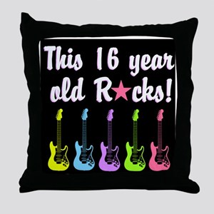 ROCK STAR 16TH Throw Pillow