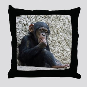 Chimpanzee003 Throw Pillow