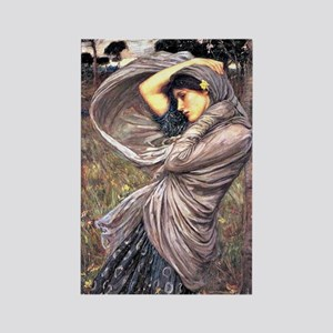 John Waterhouse painting - Boreas Rectangle Magnet