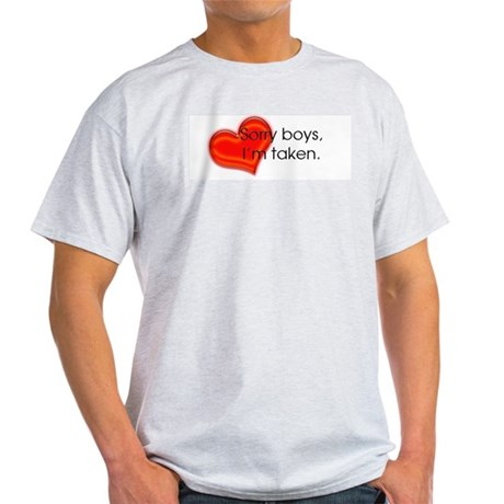 I'm Taken - dark Ash Grey T-Shirt