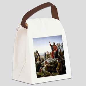 Sermon on the Mount, Bloch painti Canvas Lunch Bag