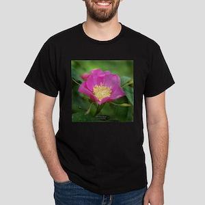 Prickley Rose WildFlower Dark T-Shirt
