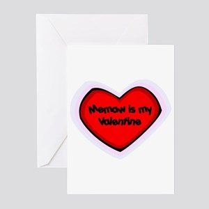 Memaw is My Valentine Greeting Cards (Pk of 10