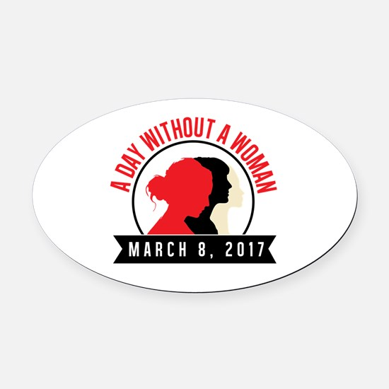 Funny Womens holiday Oval Car Magnet