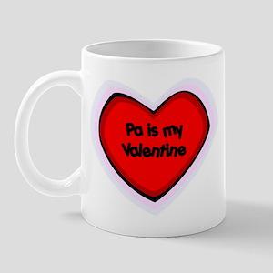 Pa is My Valentine Mug