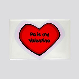 Pa is My Valentine Rectangle Magnet