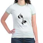 Freedom (Kanji Character) Jr. Ringer T-Shirt