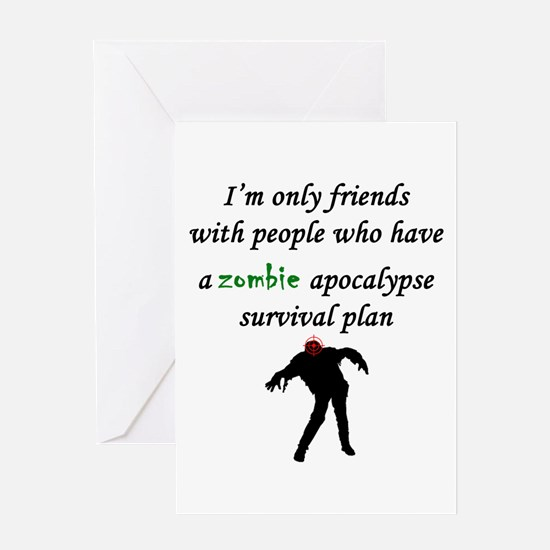Zombie Plan Greeting Cards