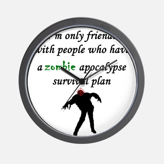 Zombie Plan Wall Clock