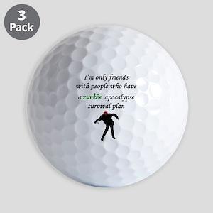 Zombie Plan Golf Ball