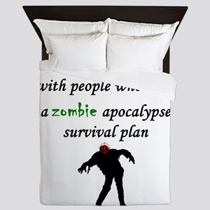 Zombie Plan Queen Duvet