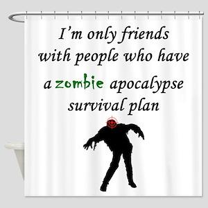 Zombie Plan Shower Curtain