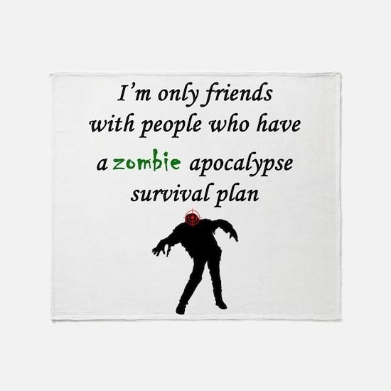 Zombie Plan Throw Blanket