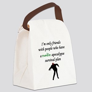 Zombie Plan Canvas Lunch Bag