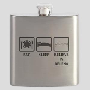 Eat Sleep Delena Flask