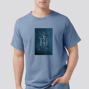 Corkscrew Patent Drawing Mens Comfort Colors Shirt