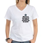 Want Most Women's V-Neck T-Shirt