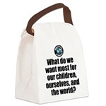 Want Most Canvas Lunch Bag