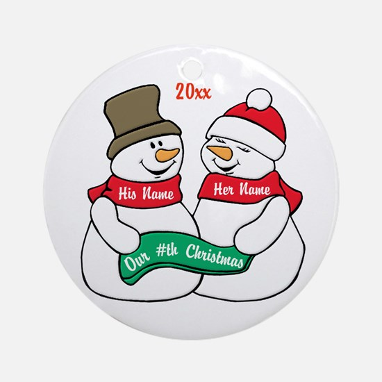 Our Nth Christmas Ornament (Round)