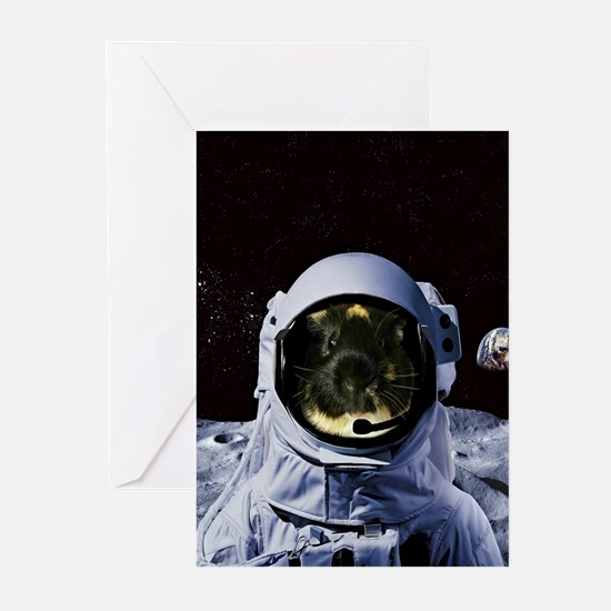 Astronaut Dean the Guinea Pig Greeting Cards