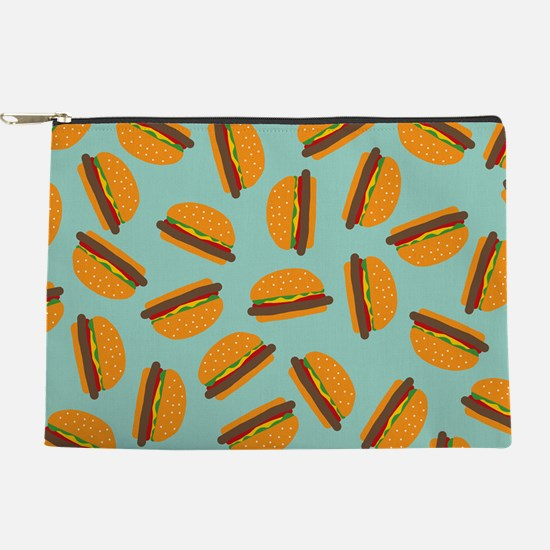 Cute Burger Pattern Makeup Pouch