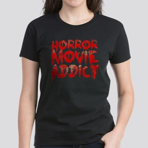 Horror movie addict Women's Dark T-Shirt
