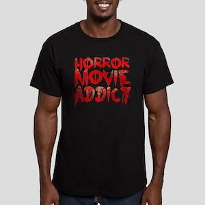 Horror movie addict Men's Fitted T-Shirt (dark)