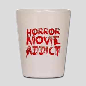 Horror movie addict Shot Glass