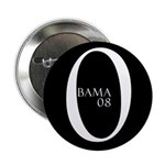 Obama (black design 1) Button