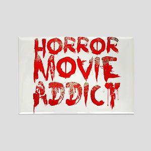 Horror movie addict Rectangle Magnet