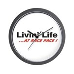 """""""Life at Race Pace"""" Wall Clock"""