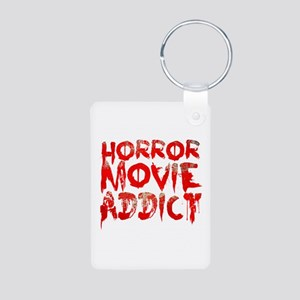 Horror movie addict Aluminum Photo Keychain