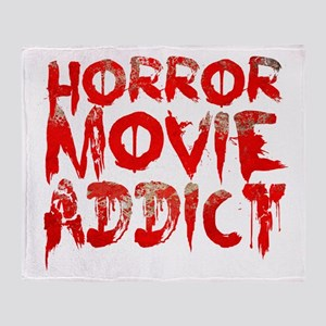 Horror movie addict Throw Blanket