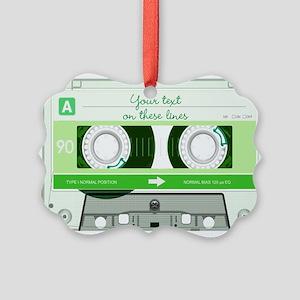 Cassette Tape - Green Picture Ornament