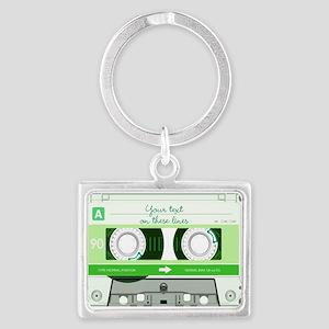 Cassette Tape - Green Landscape Keychain