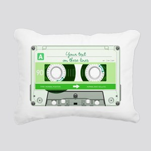 Cassette Tape - Green Rectangular Canvas Pillow