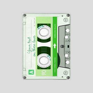 Cassette Tape - Green 5'x7'Area Rug