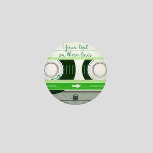 Cassette Tape - Green Mini Button