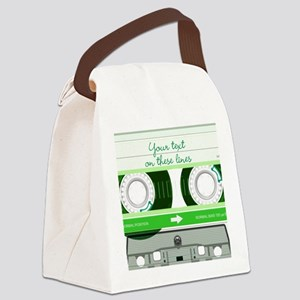 Cassette Tape - Green Canvas Lunch Bag