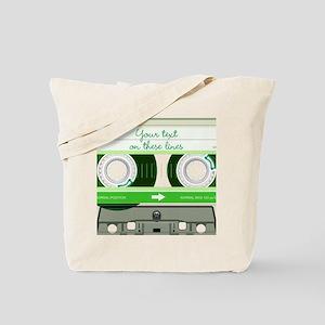 Cassette Tape - Green Tote Bag