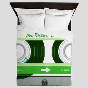 Cassette Tape - Green Queen Duvet