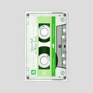 Cassette Tape - Green 3'x5' Area Rug