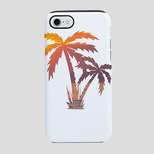 California Palm Tree Sunset iPhone 7 Tough Case