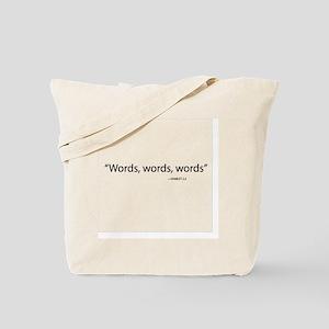 Words, Words, Words Tote Bag