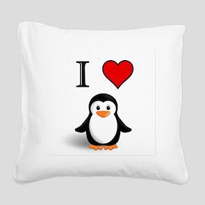 PENGUIN Square Canvas Pillow