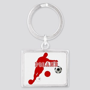 Polish Soccer Player Landscape Keychain