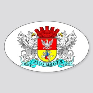 BIALYSTOK Oval Sticker