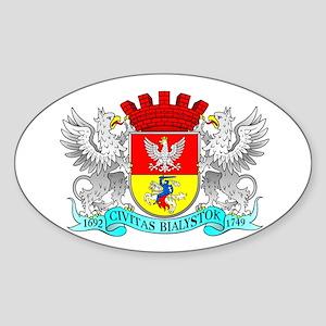 BIALYSTOK Oval Sticker