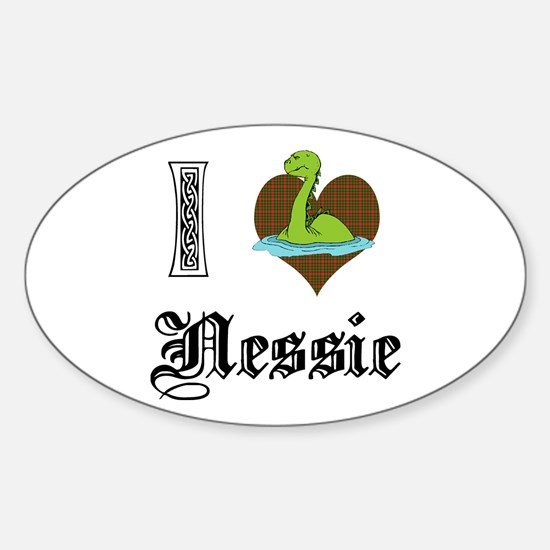I [HEART] NESSIE Oval Decal