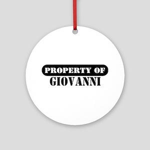 Property of Giovanni Ornament (Round)